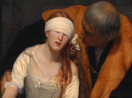 英国国家美术馆中的布面油画:简·格雷女士的死刑