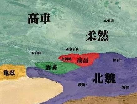 西域小国高昌国非要跟着唐朝干 结果被由国改为了州