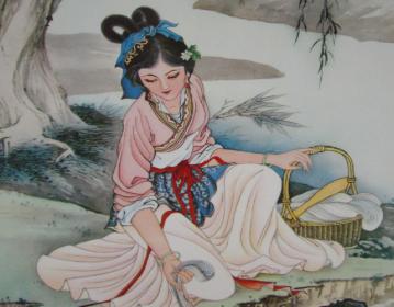与西施同入越宫的春秋美女:郑旦
